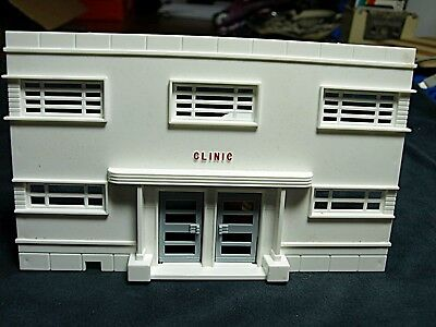 Plasticville Police Station Green Roof  O-S Scale