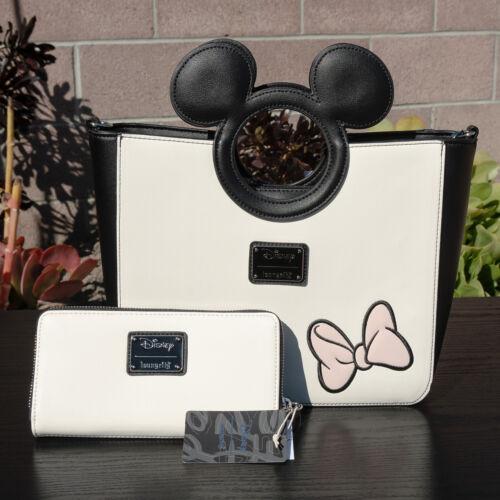geldbrse amp; Umbauten Loungefly Minnie Nwt Mouse Mit Disney Handtasche Neu Reiverschluss Peekaboo wFZw18qx