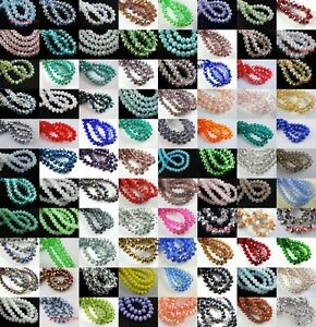 Wholesale-Glass-Crystal-Faceted-Rondelle-Spacer-Loose-Beads-6mm-8mm-10mm-12mm