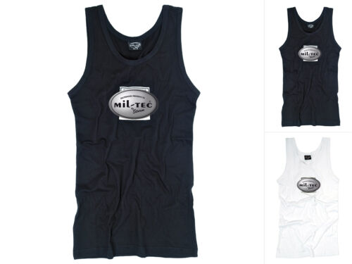 Mil-Tec Tanktop mit Adler Sporthemd Unterhemd Jersey-Tank-Top Schwarz Weiß S-XXL