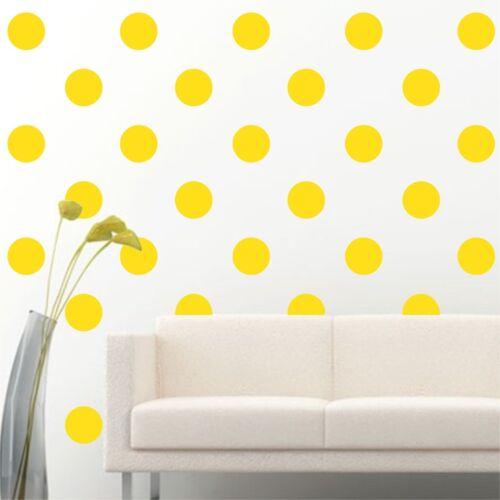 "100 of 3/"" Light Yellow Polka Dots Circle DIY Removable Wall Vinyl Decal Sticker"