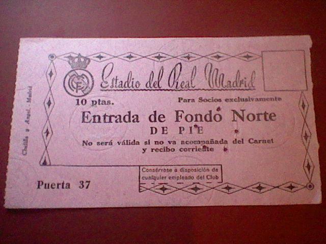 Entrada 1956  II copa europa CHAMPIONS REAL MADRID RAPID VIENA DESEMPATE