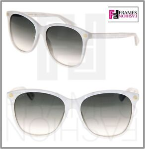 a559c48a41 Image is loading GUCCI-0024-Oversized-White-Pearl-Gradient-Sunglasses -GG0024S-