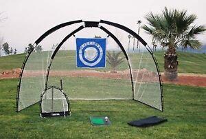 Golf Practice Set Backyard Park Mat Driving Range Net ...