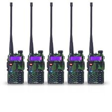 5 PCS BaoFeng UV-5R Green VHF&UHF Dual-Band Ham 5R Radio Walkie Talkie From USA