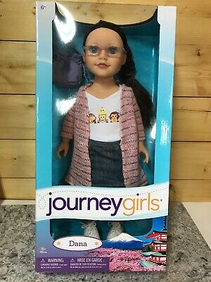 """NEW RETIRED Journey Girls Meredith Blue Sweater Plaid Japan 18/"""" Doll Toys R Us"""