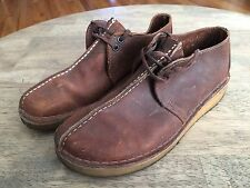 CLARKS ORIGINALS DESERT TREK Men's Brown Leather Boots Shoes Mocs 8 M