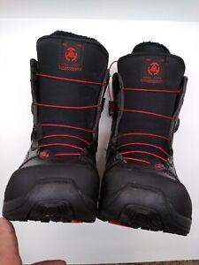 New-black-SPDL-K2-BOA-Snowboard-Boots-Men-039-s-Size-9us-Black-Harshmellow-Intuition
