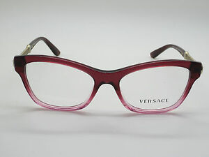1943ca5a4056 Image is loading NEW-Authentic-VERSACE-Mod-3214-5151-Burgundy-Pink-