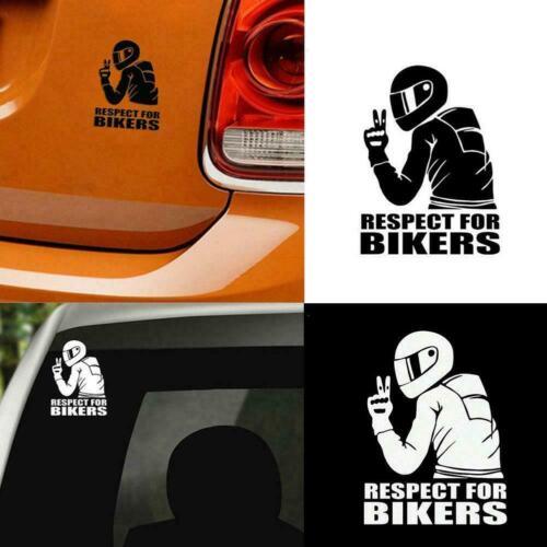 Respekt für Biker Aufkleber Auto Vinyl Aufkleber lustige Motorrad wasserdi neu