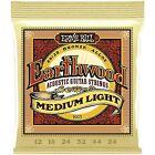 3x Ernie Ball 2003 Earthwood Bronze Acoustic Guitar Strings Medium Light 12-54