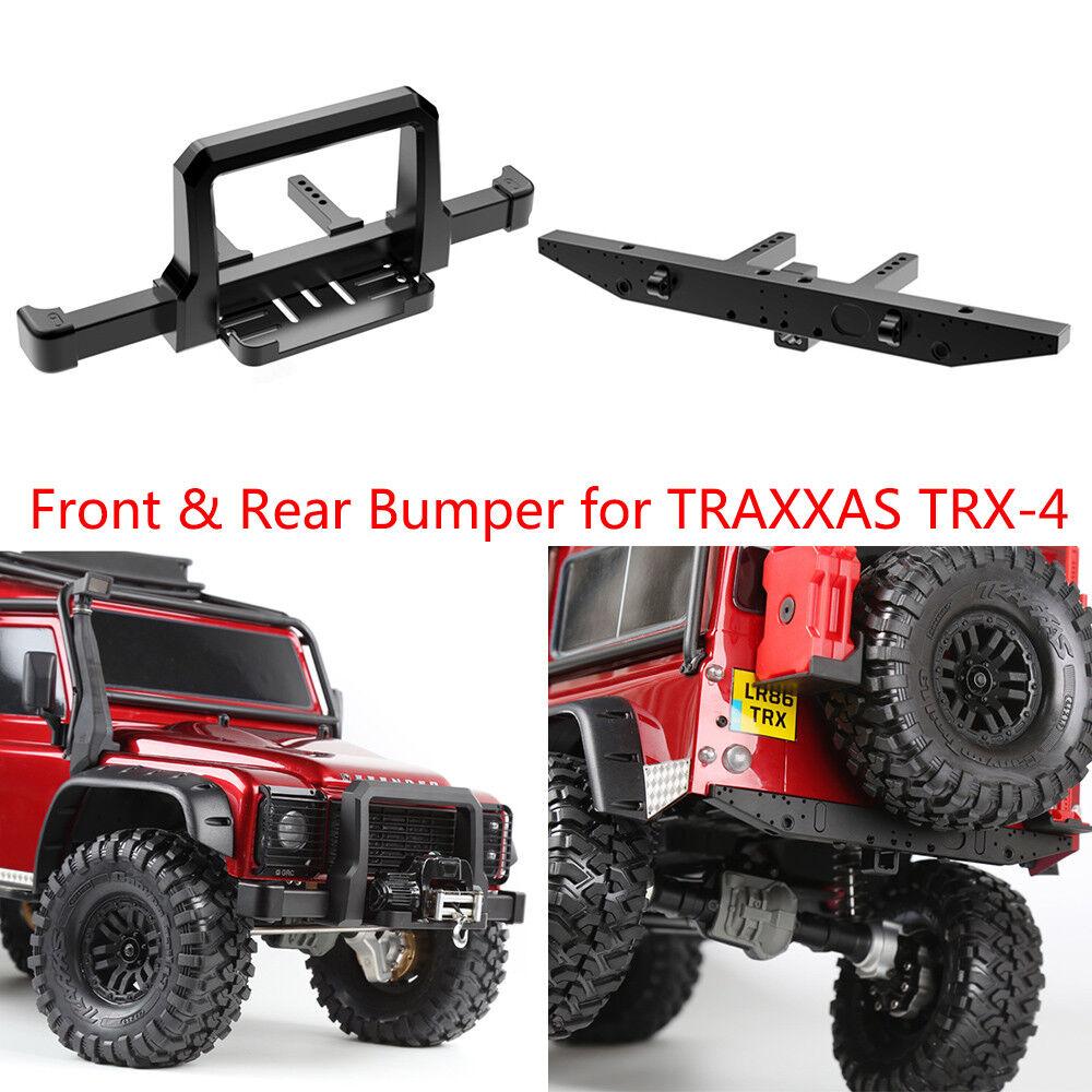 CNC Aluminum Front & Rear Winch Bumper Set for 1 10 RC Crawler Traxxas TRX-4