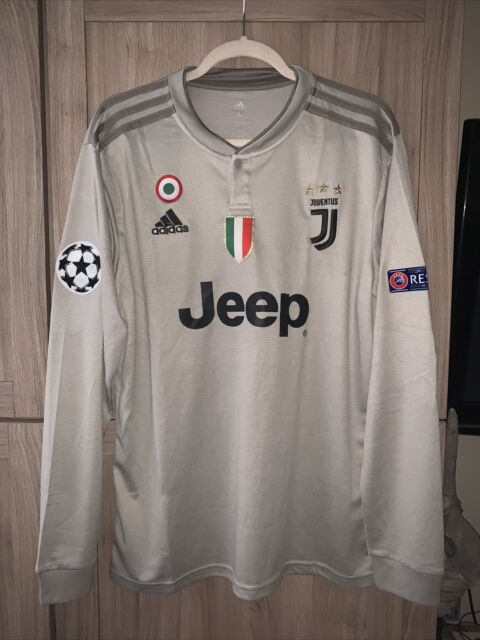 Cristiano Ronaldo Juventus L/S jersey with UCL and Respect Patches