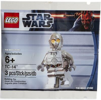 LEGO STAR WARS TC-14 CHROME SILVER PROTOCOL DROID POLYBAG FIGURE 2014 SEALED