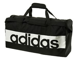 77a15c72dc Image is loading Adidas-Linear-Performance-Medium-Bags-Black-Running-GYM-