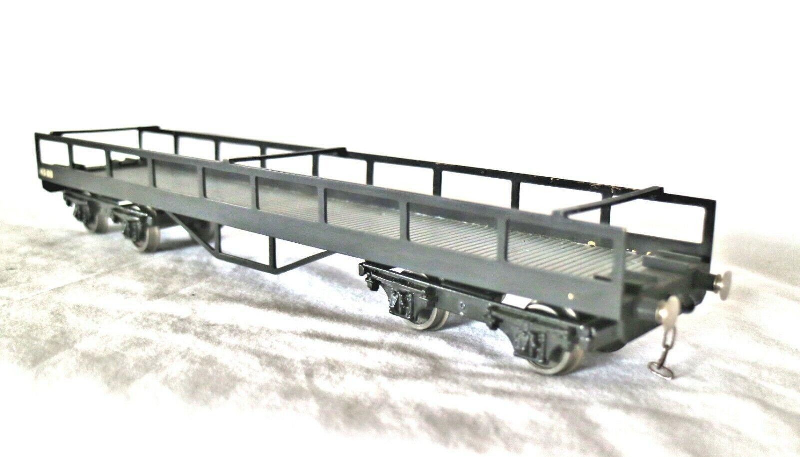 921E  Alte Besondere Auftrag Bassett-Lowke 0 Spur Lms Messing Körper Car-Carrier