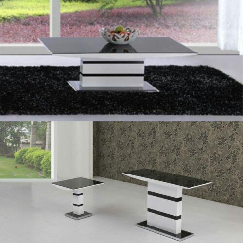 Atlantis Black//White High Gloss Glass Occasional Living Room Range Items