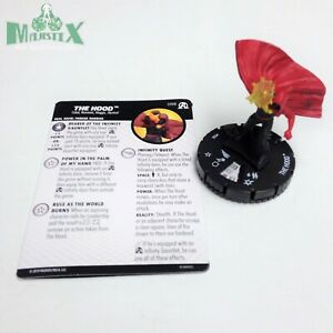 Heroclix-Avengers-Black-Panther-amp-Illuminati-set-The-Hood-058-Super-Rare-w-card