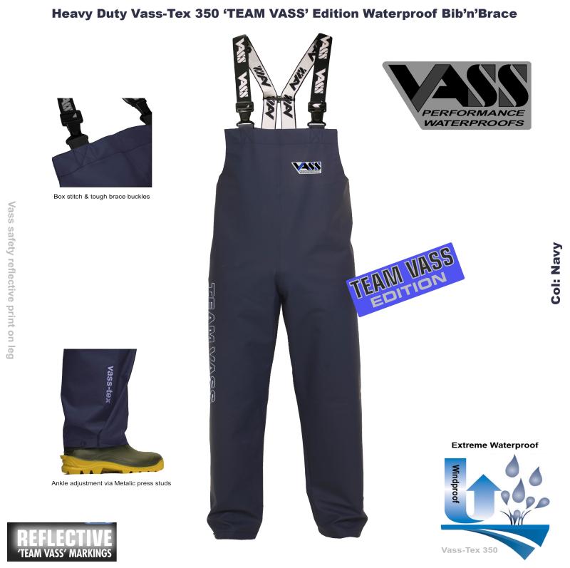 Squadra Vass 350 Heavy Duty Bib & Brace