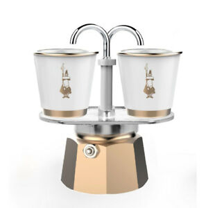Detalles de BIALETTI | Mini Express Oro + 2 tazas de espresso incluido | Máquina de café gaspot ver título original