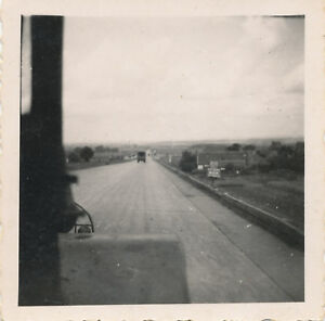 WWII-1945-Brunswick-Germany-GI-039-s-Photo-3-on-the-Autobahn-super-Highway