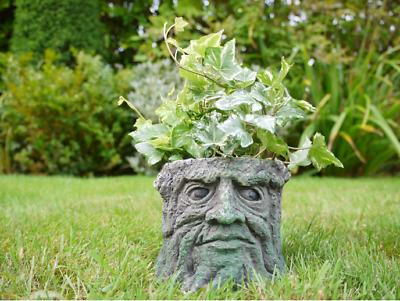 5640 ORNATE TREE STUMP PLANTER PLANT POT FOR FLOWERS HOME OR GARDEN
