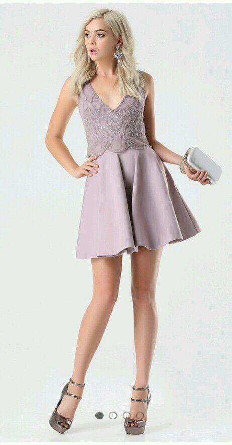 NWT bebe Women Bead & Sequin Flared Dress sz 4 (MRSP )
