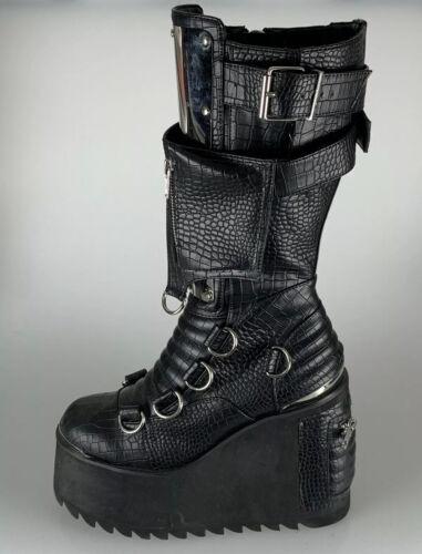 Dolls Kill EXX IMMORTAL SOUL Platform Boots Sz 8m