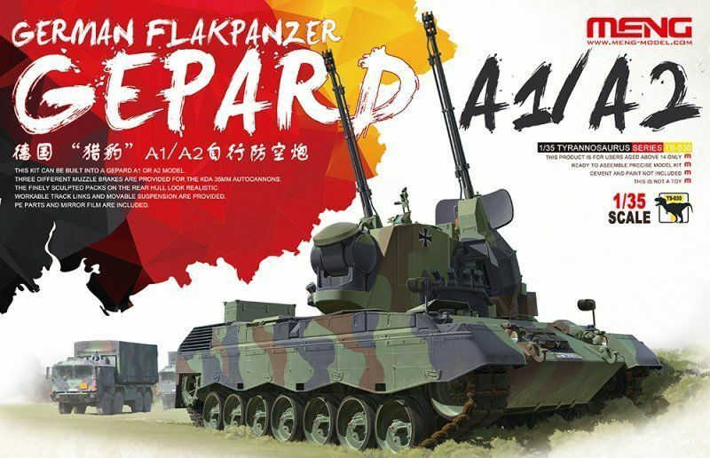 Meng-Model German Flakpanzer Gepard A1 A2 Tank 1 3 5 Kit Kit Item TS-030