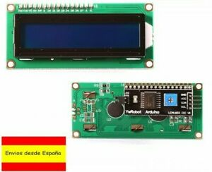 Pantalla LCD 1602 AZUL  IIC/I2C Pines Soldados arduino Display P0010