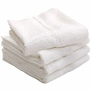 X4 Japanese IMABARI Face Towel Cotton 100/% 81 x 33 cm Made in JAPAN White