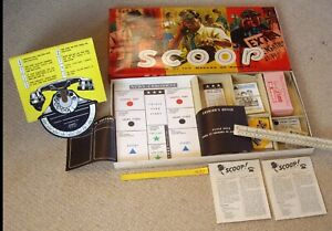 1960s Vintage Scoop Game. For Budding Journalists. Complete & Fine (G23)