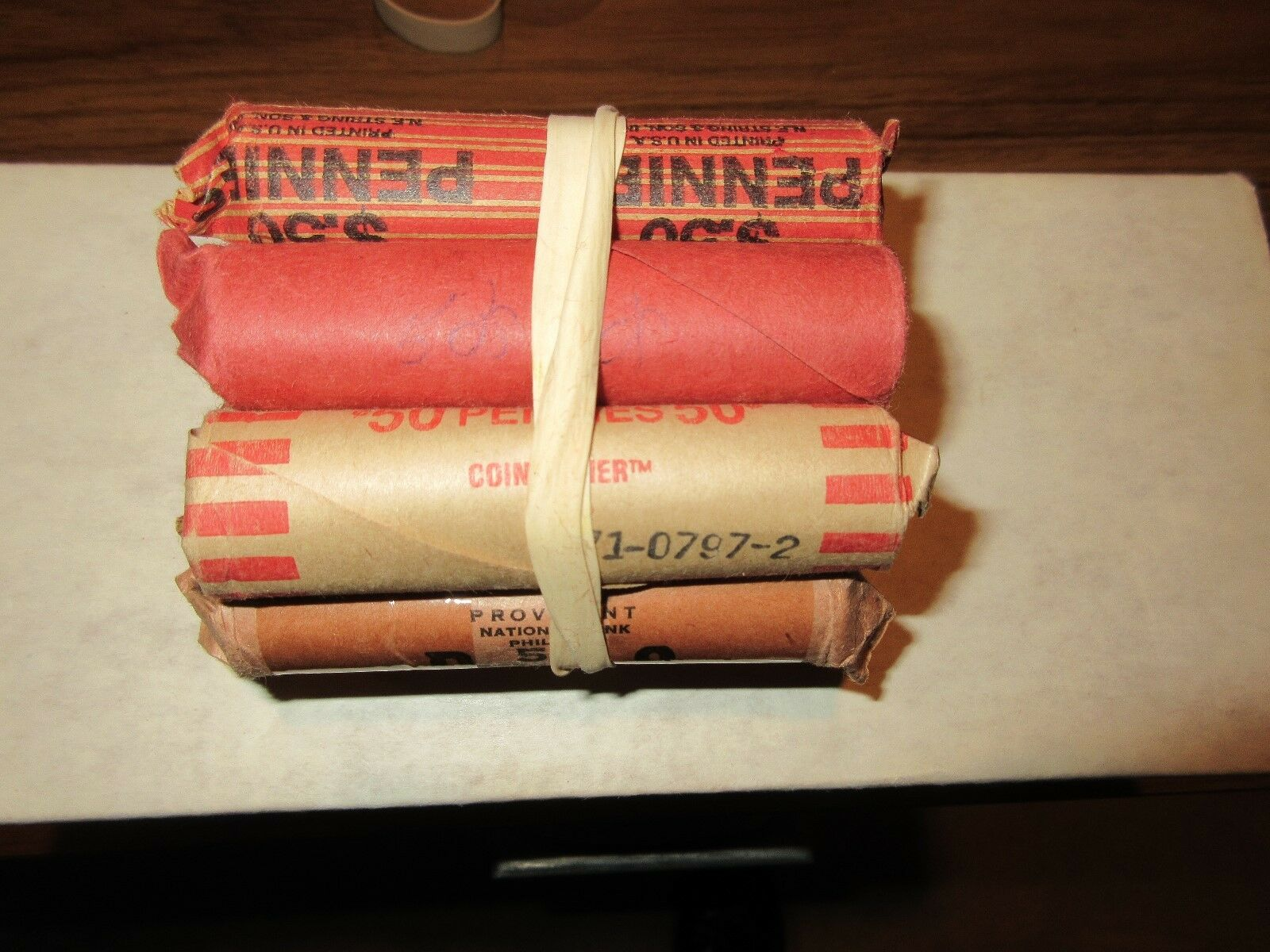 1969-D , 70-D , 71-D , 72-D , Lincoln Penny Roll , Almo