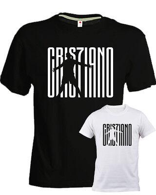 T-shirt, Maglie E Camicie 2019 Latest Design T-shirt Cristiano Ronaldo Cr7 Bianca Nera Bimbo Bambino Bambina Juve Calcio Bambini 2 - 16 Anni