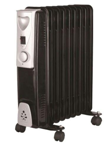 Portatile 9 FIN 2000 W elettrico riscaldatore radiatore riempita di olio con 3 regolazioni di calore BK