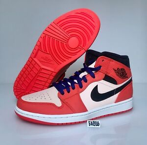 Nike Air Jordan 1 Mid SE Team Orange Black 852542 800 Reverse ... 18a1a4317