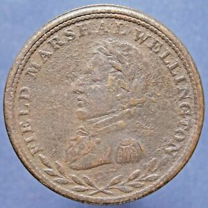 1813-WE-1A2-Field-Marshal-Wellington-Canada-Canadian-Colonial-1-2-Penny-Token