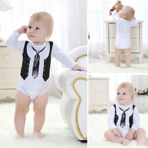 Eg-Carino-Neonato-Bambino-Cotone-Tutina-Intera-Body-Bebe-Vestiti-Completi