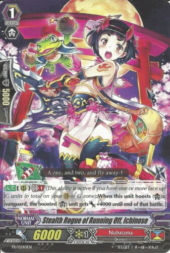 STEALTH ROGUE OF RUNNING OFF ICHINOSE G-PR//0240EN C CARDFIGHT VANGUARD CARD