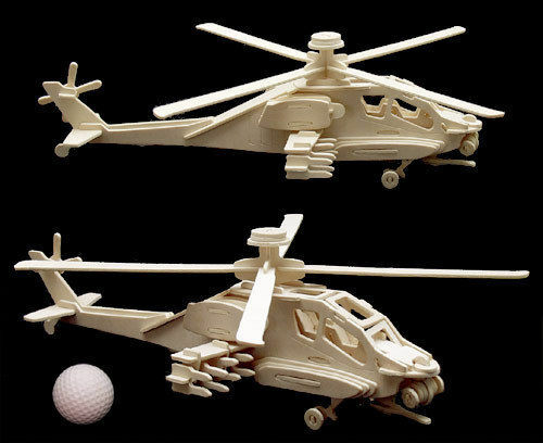 IDEAL RETAILER LOT OF 12 puzzles 3 D helicopter APACHE