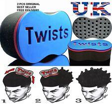 2 X Magic Original Barber Hair Brush Sponge For Dread Locs Twist Coil Afro Curl