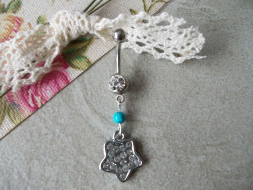 1x Turquoise Stone Belly Bar,Chose Design S//S OR Titanium,6,8,10mm,12mm14mm,16mm