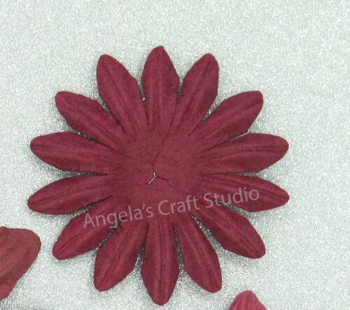 "10 x 5cm /""BURGUNDY/"" Paper Flower Petals by Green Tara Scrapbooking Cards Craft"