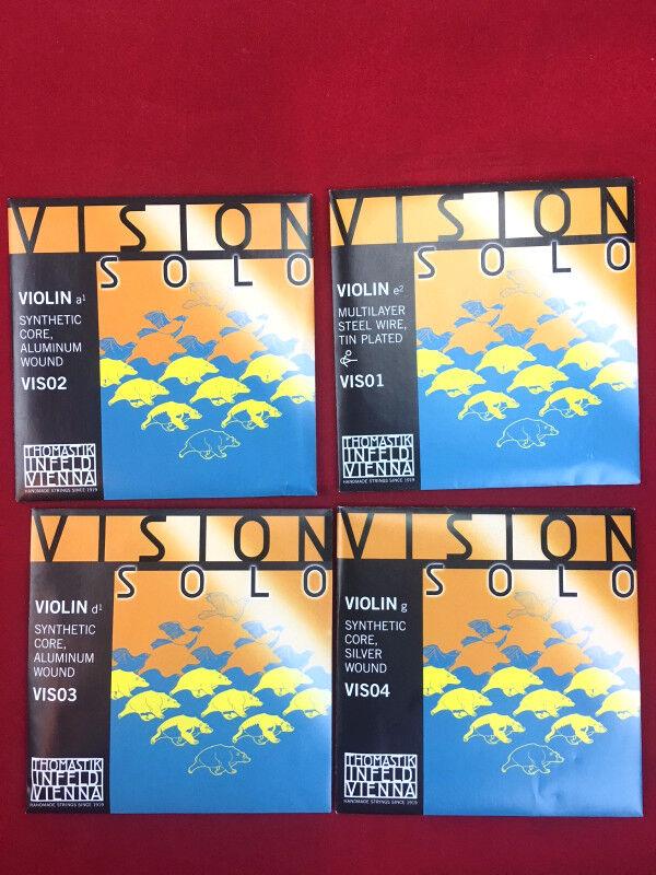 Thomastik Vision Solo Violin String Set   Aluminum D 4 4 Ship fast