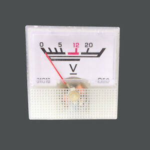 0-20V-Analog-Voltage-Panel-Meter-voltmeter-Guage-5PCS