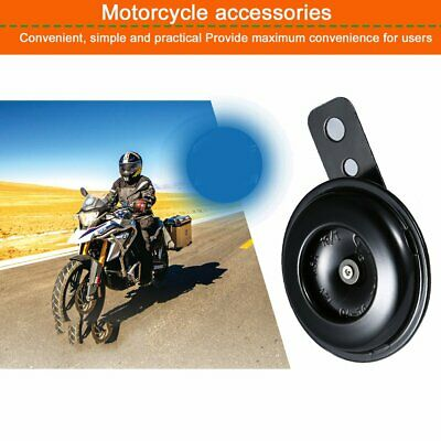 Motorcycle Electric Horn Kit 12V 1.5A Waterproof Round Loud Horn Speakers with 105db for Scooter Moped Dirt Bike ATV Motorcycle