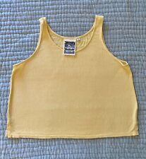 Jungmaven Womens Organic Cotton Hemp Basic Cropped Pastel Yellow Tank Top