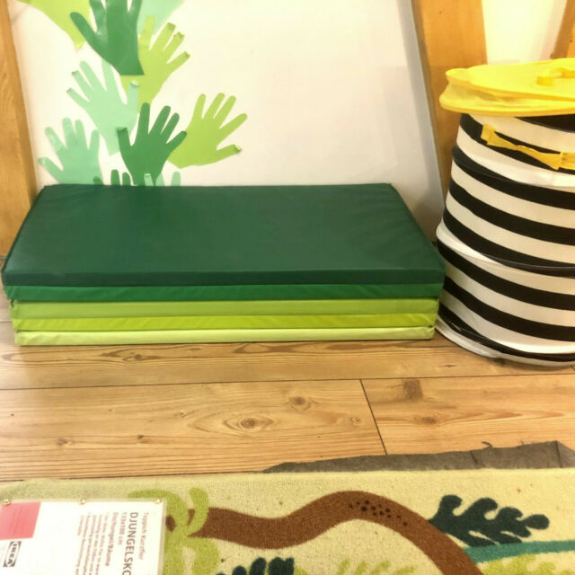 ikea plufsig 78x185cm tapis de gymnastique vert