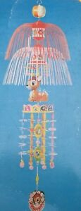 RARE-Vintage-Disney-Bambi-Sanyo-Celluloid-Japanese-Nursery-Hanging-Baby-Mobile