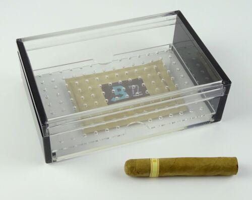 Humidor Angelo Acrylglas schwarz Airsystem ca 25 Zigarren mit Boveda Befeuchter